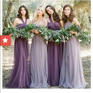 945f1a6de41 sofies bridal Dresses - Dusty purple convertible tulle bridesmaids dress